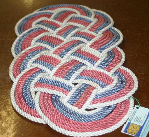 Beach Blanket Canadian Tire: Red White And Blue Throw Rope Rug 24 X 11 By