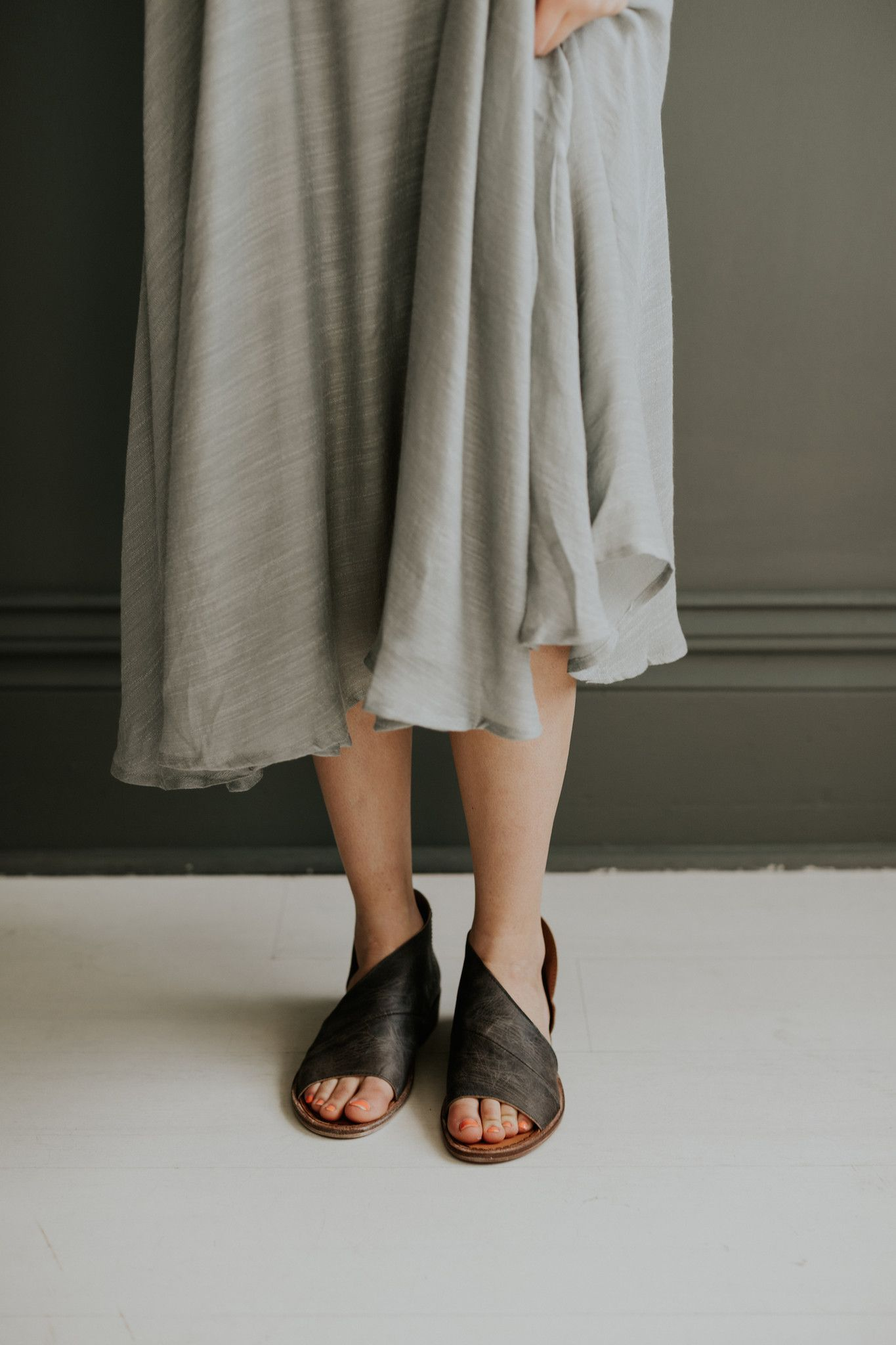 Free People Mont Blanc Sandal in Dark Gray