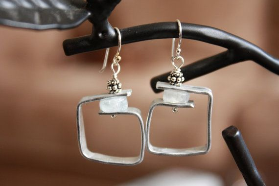 Square Bead Wrapped Earring