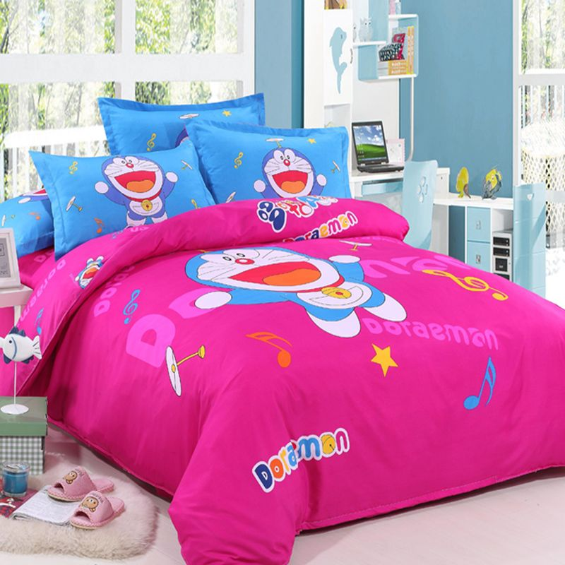 Cartoon Doraemon Nobita Nobi comforter bedding set for kids bed linen queen king  size bed sheet. Cartoon Doraemon Nobita Nobi comforter bedding set for kids bed