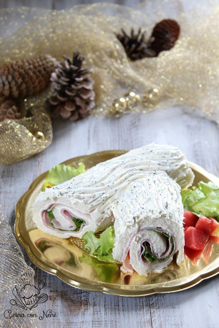 Tronchetto Di Natale Menu Di Benedetta.Tronchetto Di Natale Salato Con Prosciutto E Formaggio