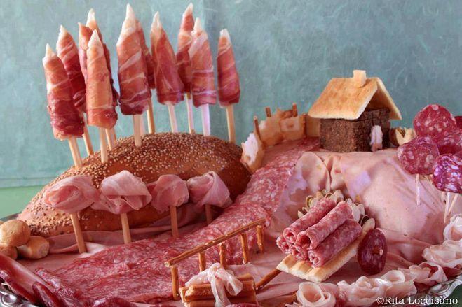 Мясная нарезка - примеры оформления - Вкусный дом ...