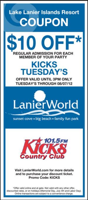 Free Lake Lanier Water Park Coupons Water Park Island Resort Lake