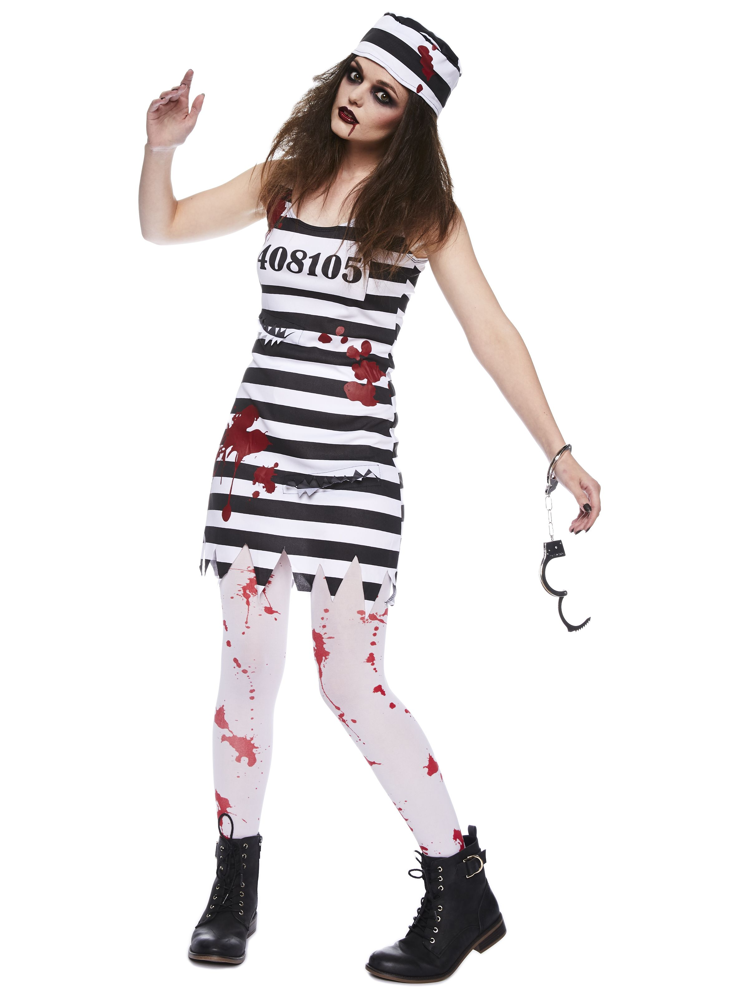 HALLOWEEN FANCY DRESS BLOOD BLOODY TIGHTS ZOMBIE SCARY ONE SIZE