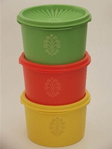 Unused Vintage Tupperware Canister Containers, Green