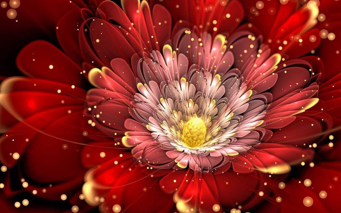 Download Wallpaper 3840x2400 Fractal Flower Glitter Shape 4k Ultra Hd 16 10 Hd Background Flower Art Wallpaper Free Iphone Wallpaper