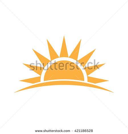 Sunshine Logo Vector Graphic Illustration Sunshine Logo Sunrise Logo Solar Logo