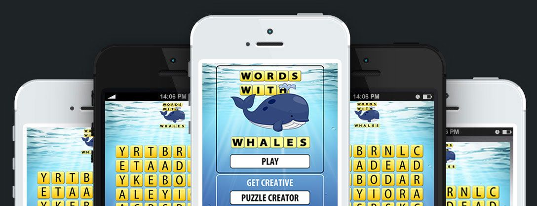 Word Search Games Words with Whales. The #1 Addicting Word Search Puzzle Game. Words with Whales is educational and fun. Find sets of words from clues. Stuck on a level? Just use a hint or ask a friend for help. http://www.wordswithwhales.com/