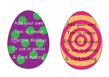 Teacher S Pet Editable Easter Eggs Free Classroom Display Resource Eyfs Ks1 Ks2 Easter Egg Jesus Teachers Pet Resource Classroom Classroom Displays