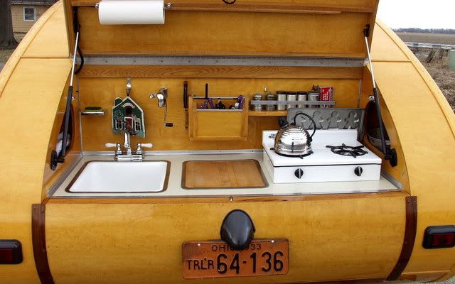 Tiny Yellow Teardrop Trailer Sinks Pros And Cons