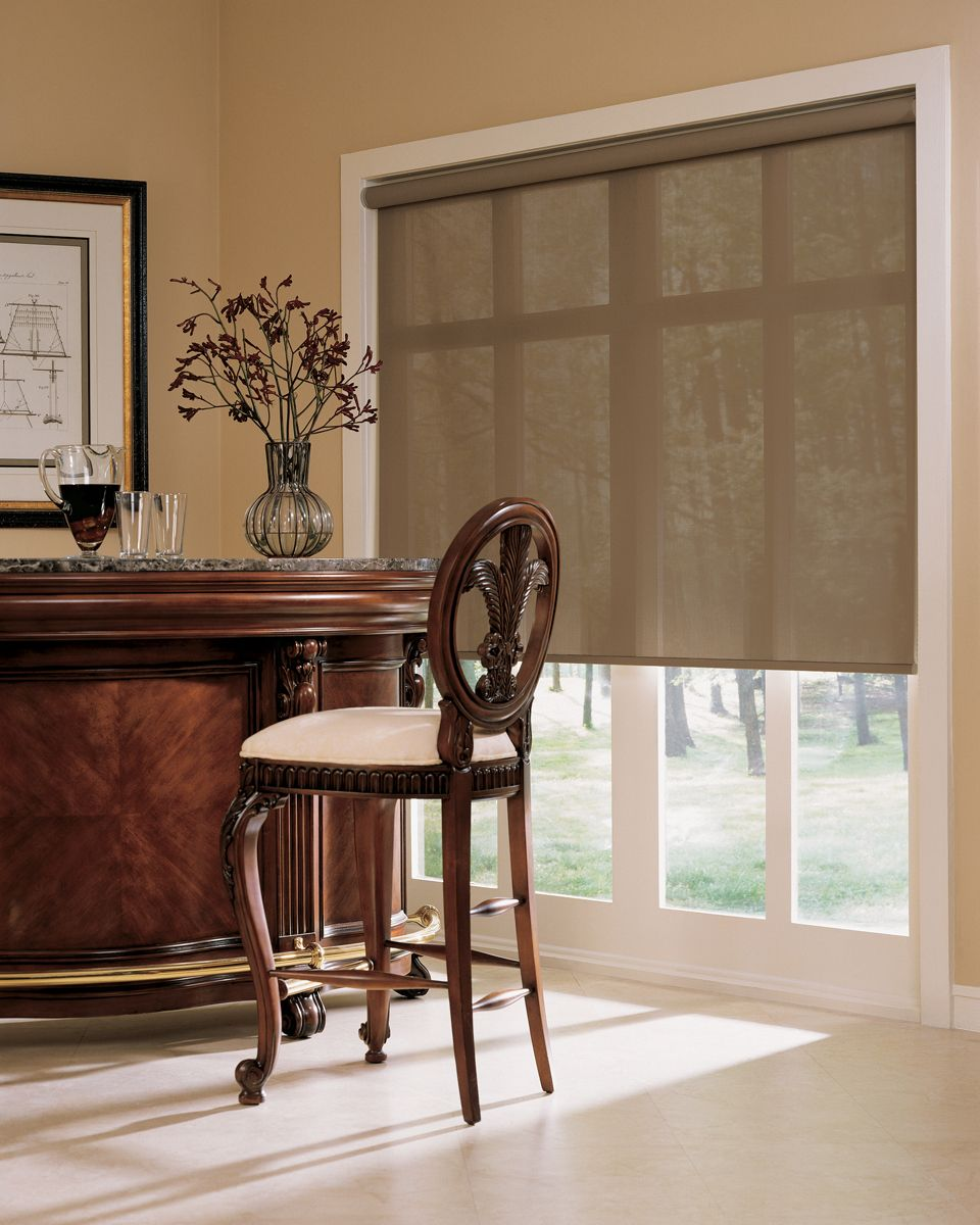 hunter douglas designer screen shades can be motorized and controlled from your iphone