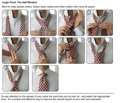 How to how to make step by step pictures diy instructions craft how to tie a large knot tie the half windsor step by step diy instructions ccuart Choice Image