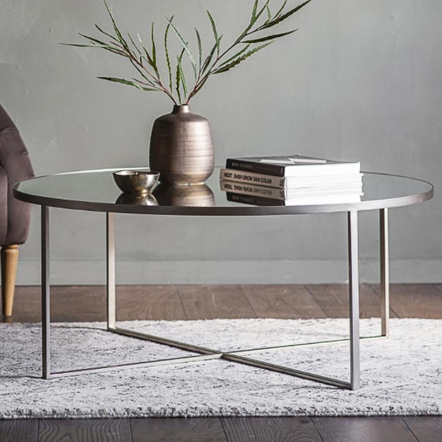 Silver Coffee Table In 2021 Coffee Table Silver Coffee Table Round Coffee Table [ 900 x 900 Pixel ]