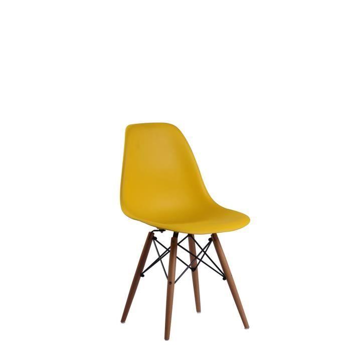 Chaise Baby Wooden Jaune Unica Chaise Cdiscount Mobilier De Salon Tabouret Design