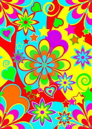 Seamless Psychedelic Hippie Pattern Hippie Art Psychedelic Pattern Colorful Art