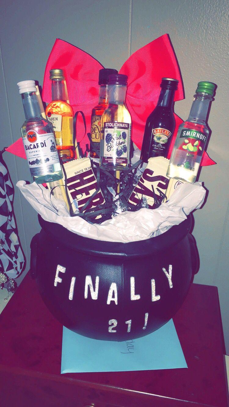 21st Birthday liquor bouquet (With images) Liquor