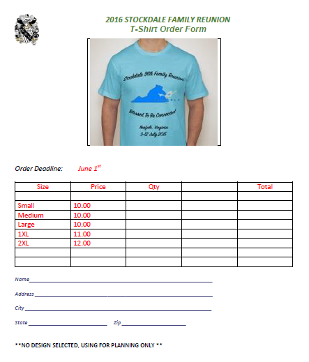 T Shirt Order Form For Family Reunion 2 Family Reunion Tshirts Family Reunion Shirts Shirt Order