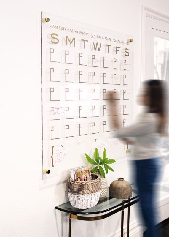 Weekly Calendar Los Angeles : Dtbd pure wall calendar large lucite white board dry