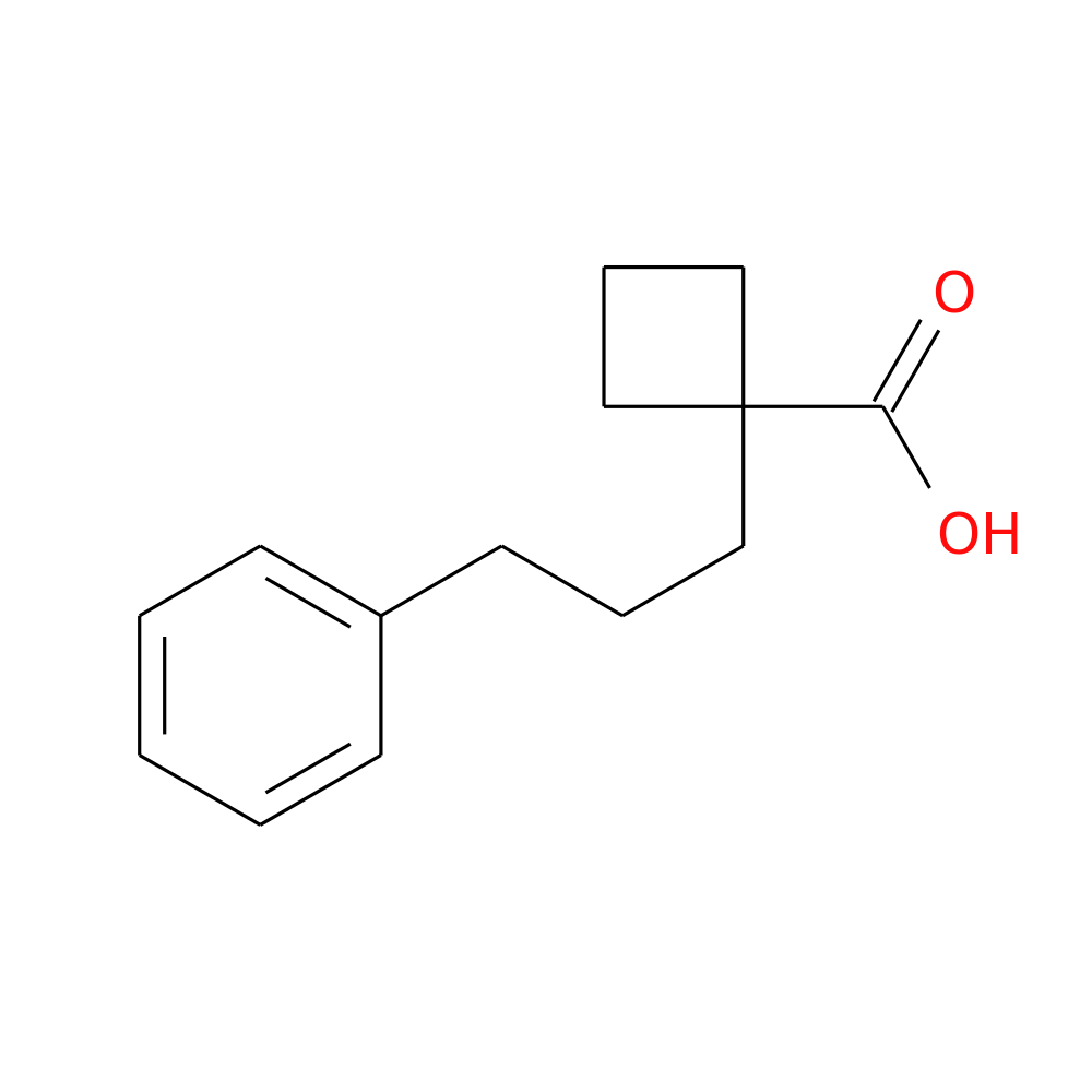 1-(3-PHENYLPROPYL)CYCLOBUTANE-1-CARBOXYLIC ACID is now available at ...