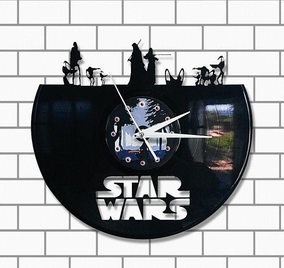 Star Wars sith jedi kylo ren vinyl clock
