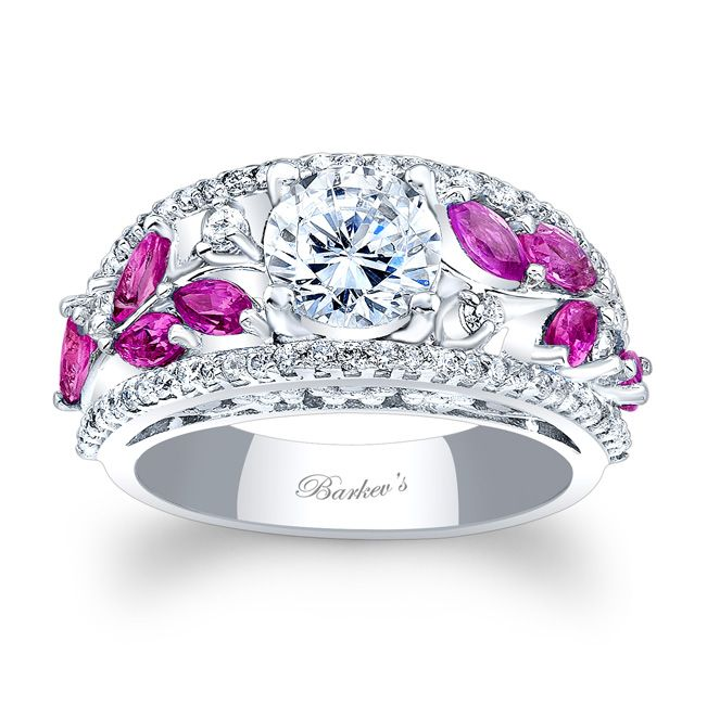 Barkev's Pink Sapphire Engagement Ring 7984LPS