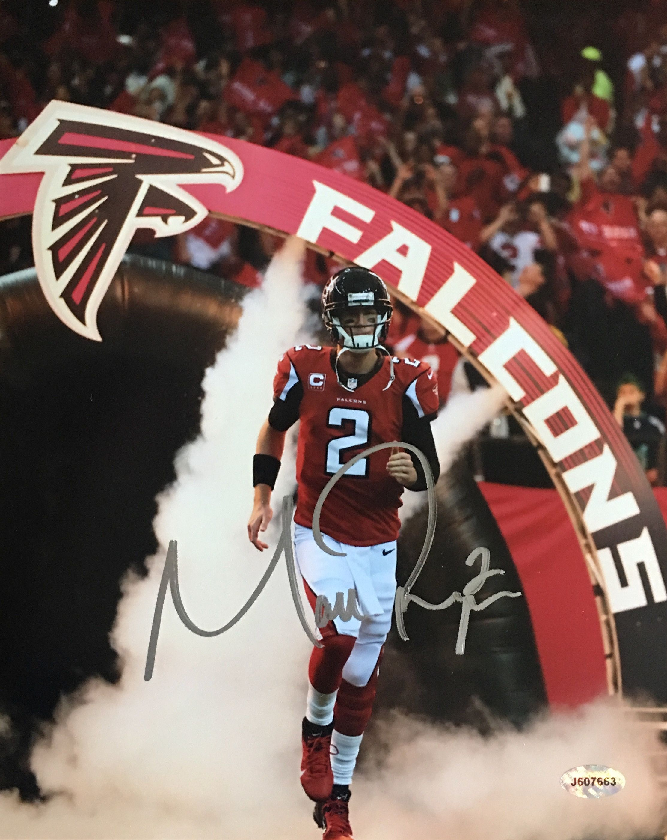 Matt Ryan Atlanta Falcons Signed 8x10 Photo Atlanta Falcons Football Atlanta Falcons Falcons Football
