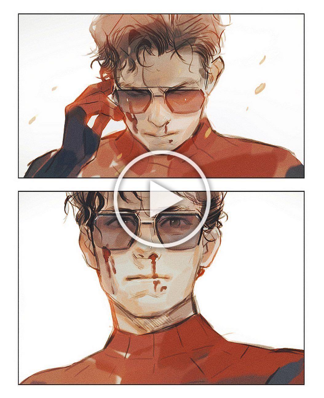 #illustration #spidermanfarfromhome #spiderman #peterparker #ironman #tonystark #tomholland #robertdowneyjr #Marvel