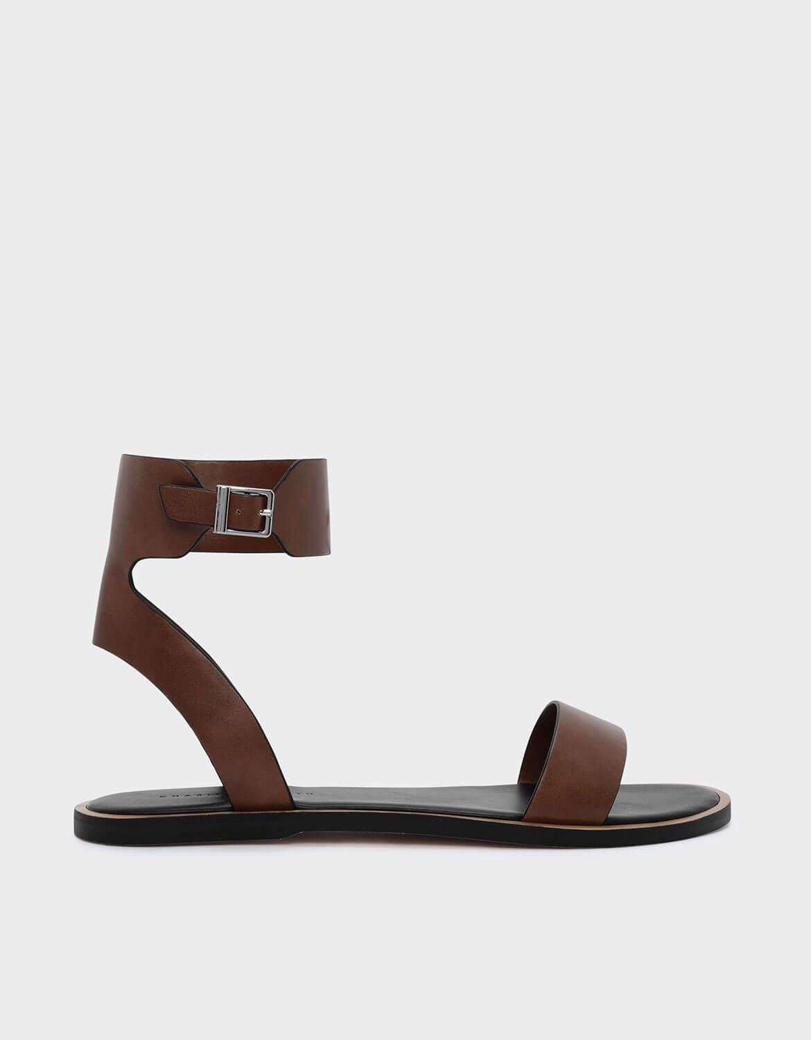 Charles Keith Shoes Brown Sandals Featuring A Thick Ankle