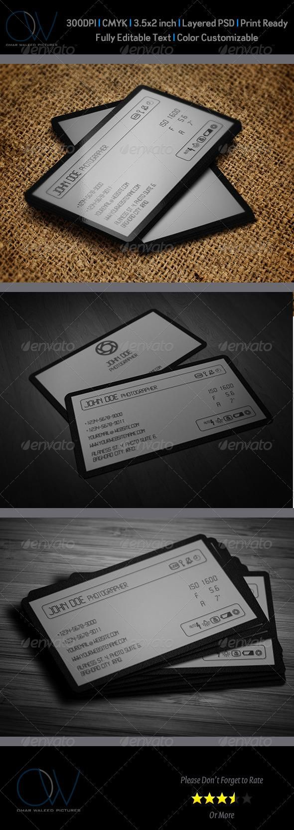 Camera lcd business card pinterest business cards business and camera lcd business card colourmoves