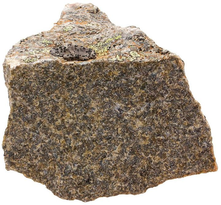 Rocks of Norway Charnockite is a rock type often described as an orthopyroxene granite, but in the majority of cases this rock is clearly metamorphic, not magmatic like a proper granite ought to be. Charnockitic rocks are common in the Lofoten archipelago. Width of sample 9 cm