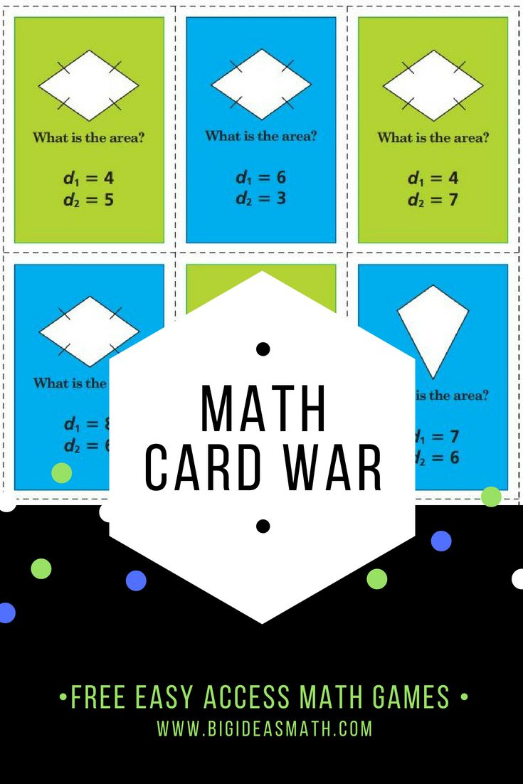 Math card war students play in pairs one student