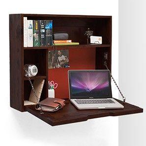 Fleming Folding Wall Desk (Mahogany Finish) Office Desk At Home :)