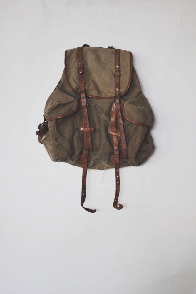 19b345995175 1930 s Russian Military Rucksack. 1930 s Russian Military Rucksack Satchel  Backpack
