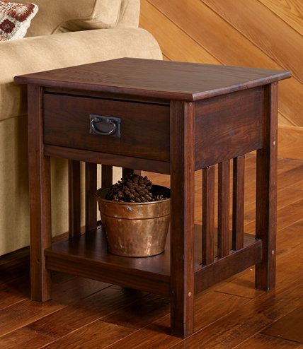 For Family Room Area In Basement Mission End Table End Tables At L L Bean Mission Style Furniture Craftsman Furniture Mission Furniture