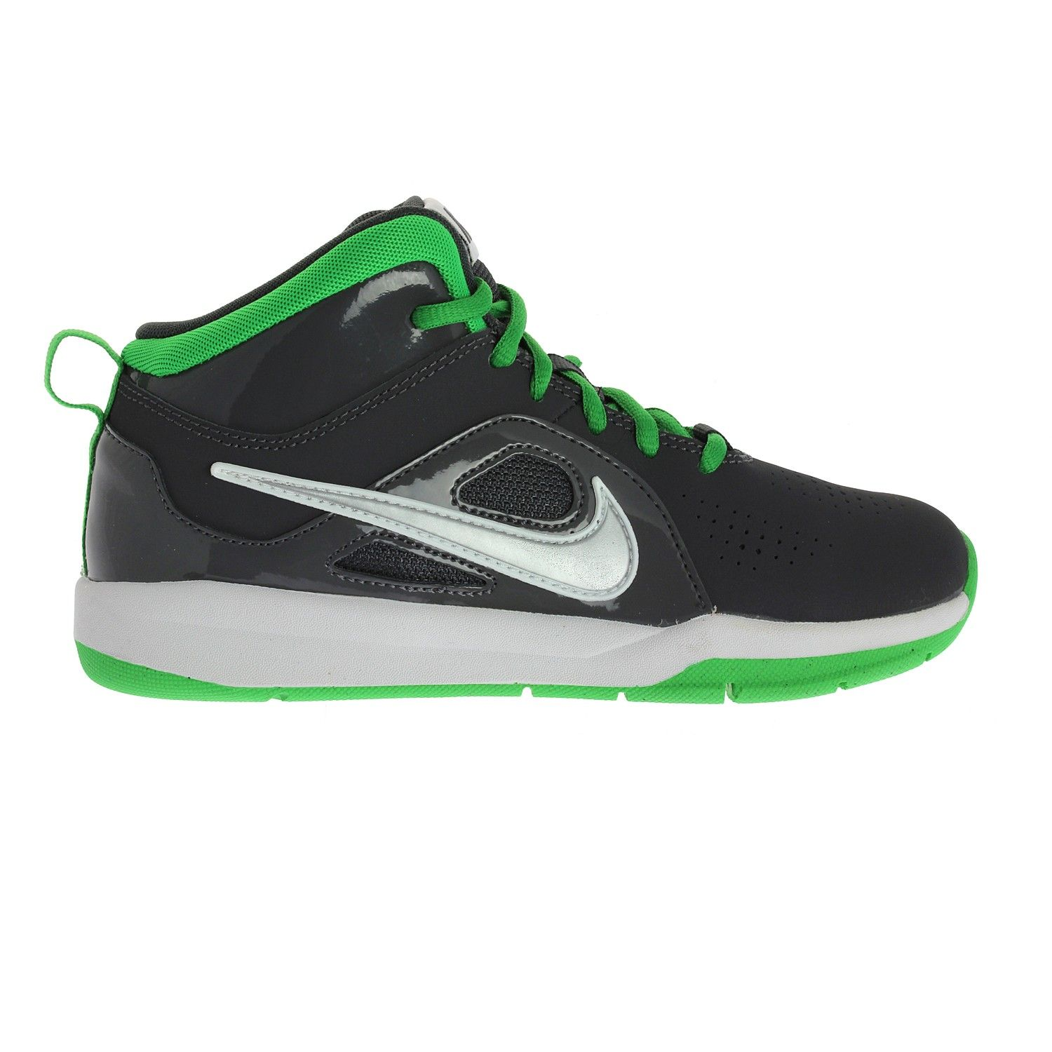 Basketball shoes for young basketball players.The Nike Team Hustle provides  a smooth ride that will deliver comfort all game long.