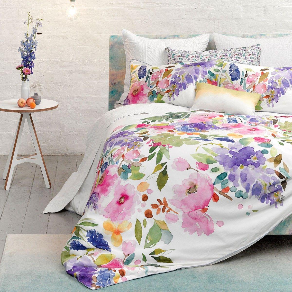 Floral bedding tumblr - Wisteria Duvet Floral Watercolour Bedding Bluebellgray