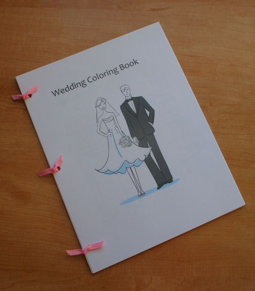 great idea print your own wedding coloring book to keep kids entertained during the reception - Diy Coloring Book