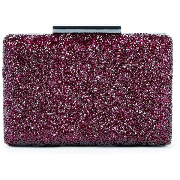 Sole Society Gladice Ombre Crystal Minaudiere (€66) ❤ liked on Polyvore featuring bags, handbags, clutches, bolsas, purses, oxblood, sparkly purses, ombre handbags, man bag and crystal purse