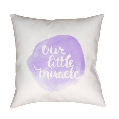 Surya Our Little Miracle Outdoor Pillow Lavender - NUR008-2020