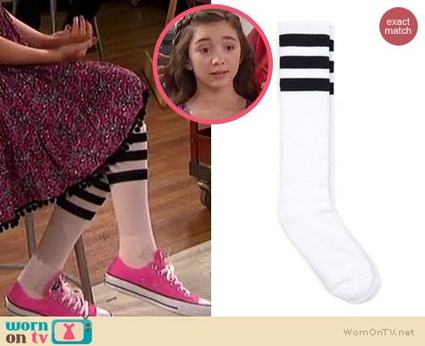 93956aee90f8f2 Riley s striped socks on Girl Meets World. Outfit Details  http   wornontv