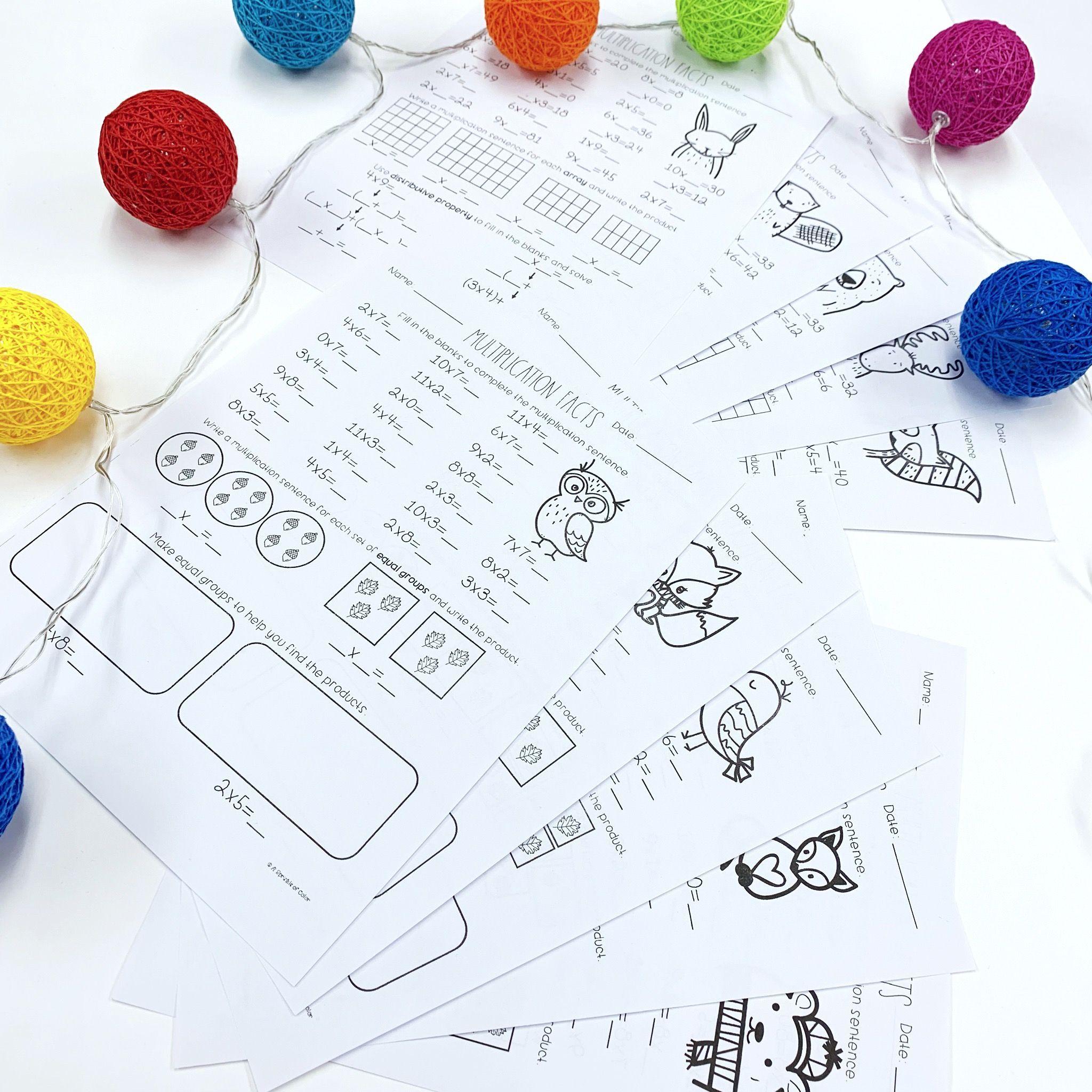 Multiplication Strategies Practice Worksheets