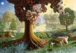 Adam Eve And Who Else About Islam Garden Of Eden Adam And Eve Painting