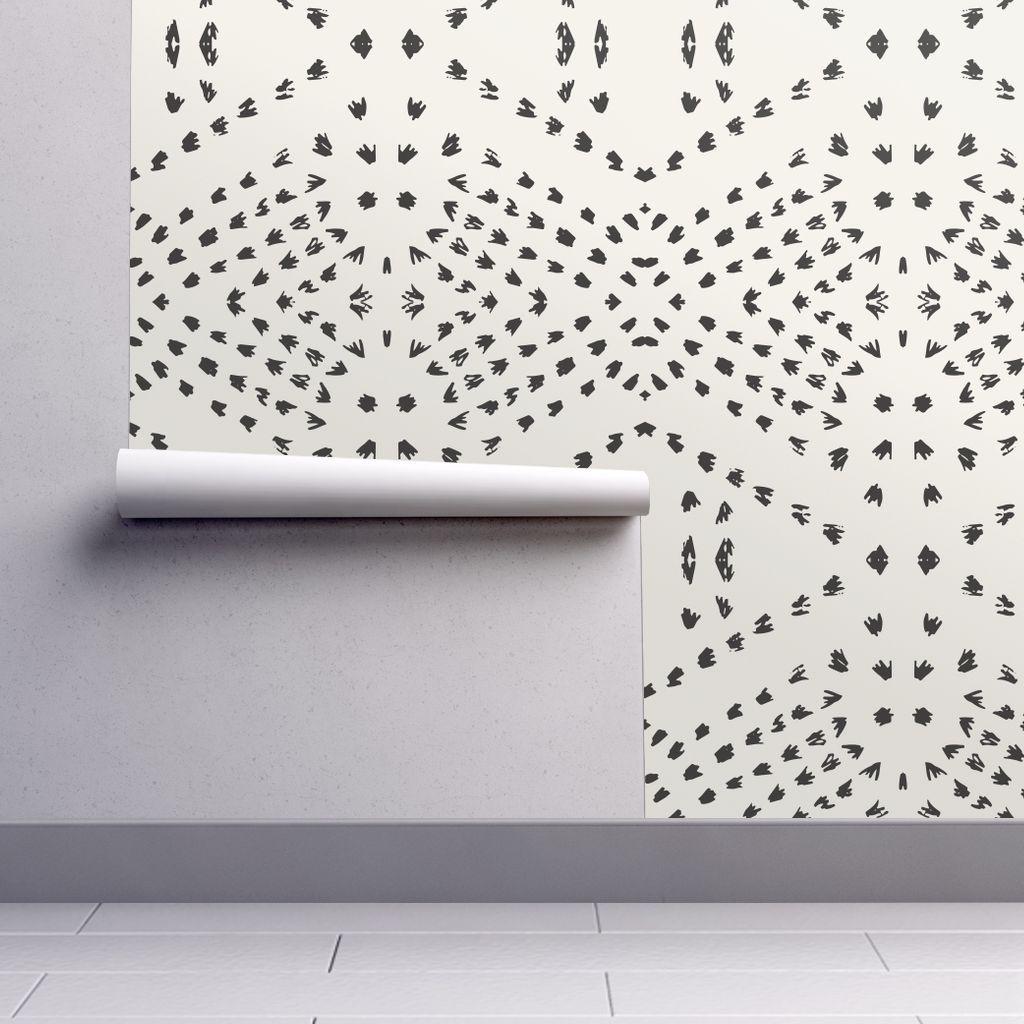 Boho Tile Large In 2020 Farmhouse Wallpaper Boho Tiles Dots Wallpaper