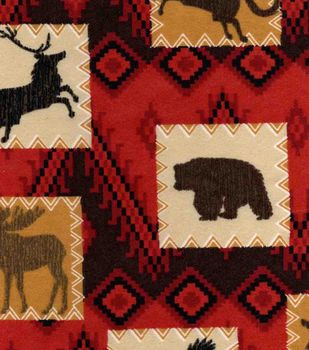 Snuggle Flannel Fabric-Wilderness Patch
