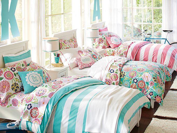 I Love The Pbteen Hampton Cottage Stripe Bedroom On Pbteen