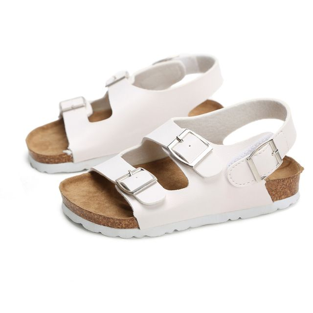 Kids Footwear For Children Leather Sandals Girls And Boys Breathable Flat Shoes
