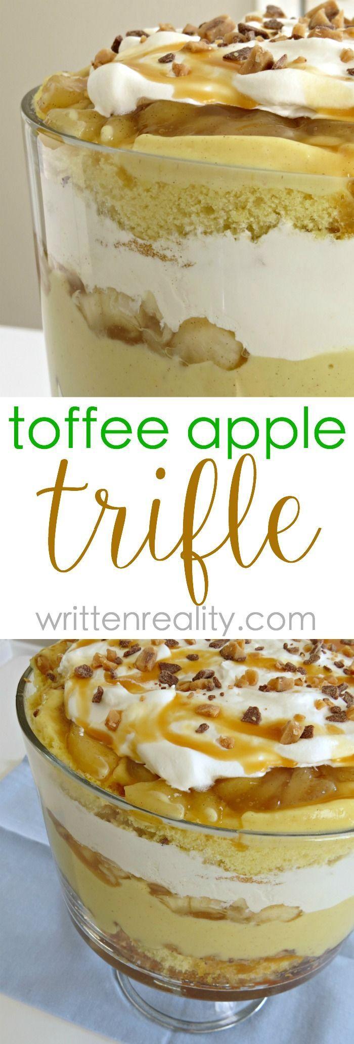 Toffee Apple Trifle Recipe - Written Reality