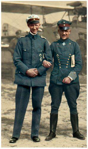 WW1  German aviators  No doubt wishing they were as cool as