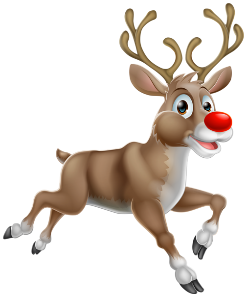 Transparent Christmas Rudolph PNG Clipart Олень рисунок