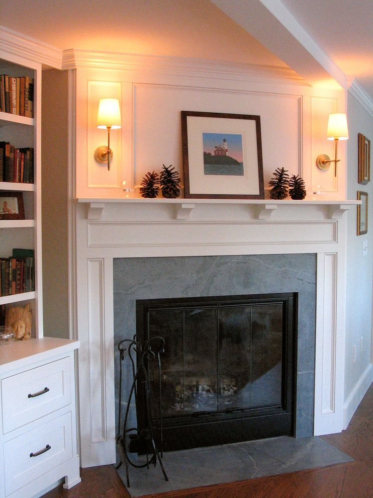 Soapstone Fireplace Surround Living Room Traditional with ...